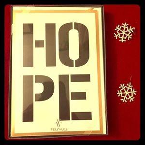 """Vera Wang Holiday Greeting Cards """"HOPE"""" NWT (10)"""